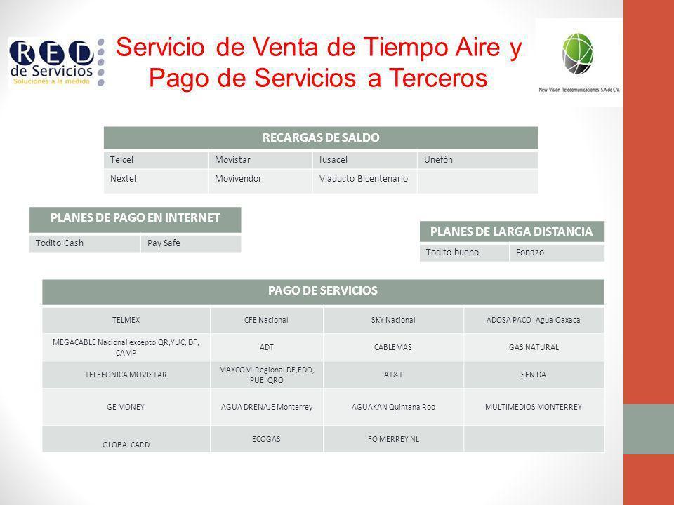 PLANES DE PAGO EN INTERNET PLANES DE LARGA DISTANCIA