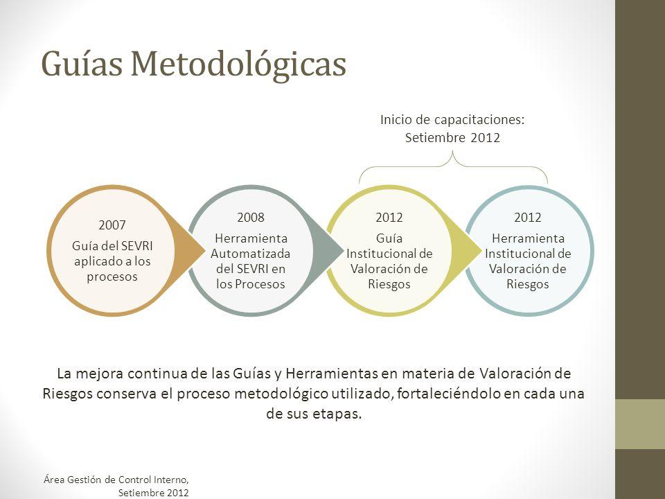 Guías Metodológicas2012. Herramienta Institucional de Valoración de Riesgos. Guía Institucional de Valoración de Riesgos.