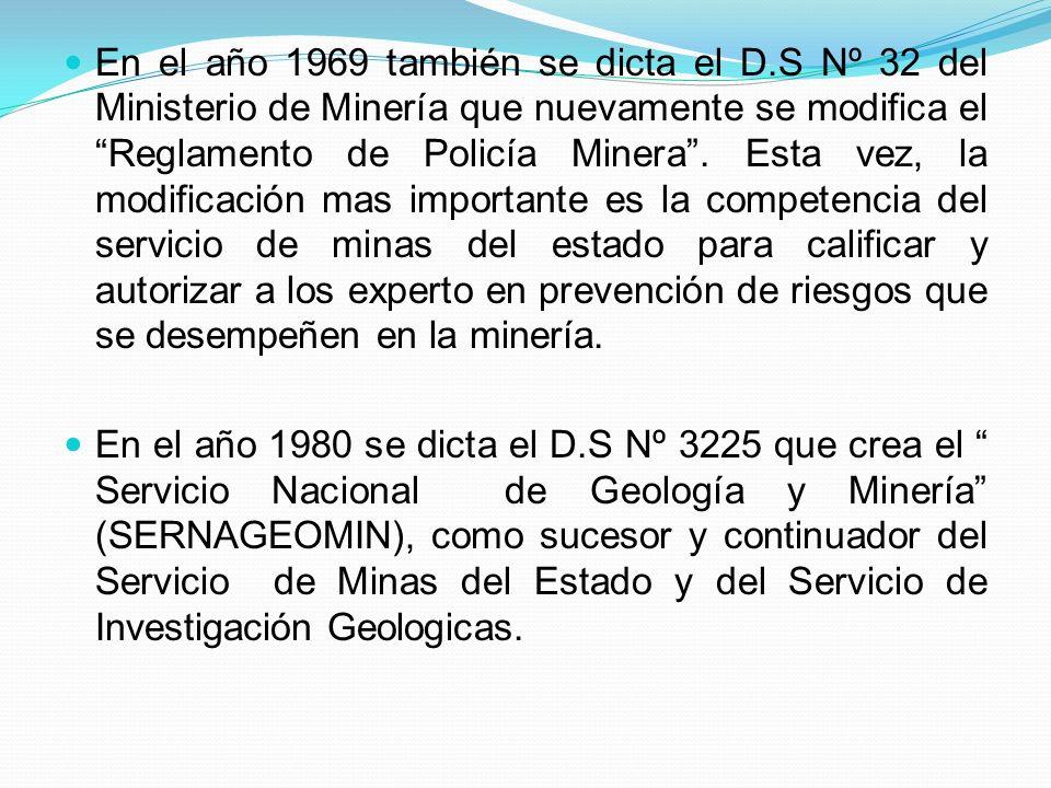 En el año 1969 también se dicta el D