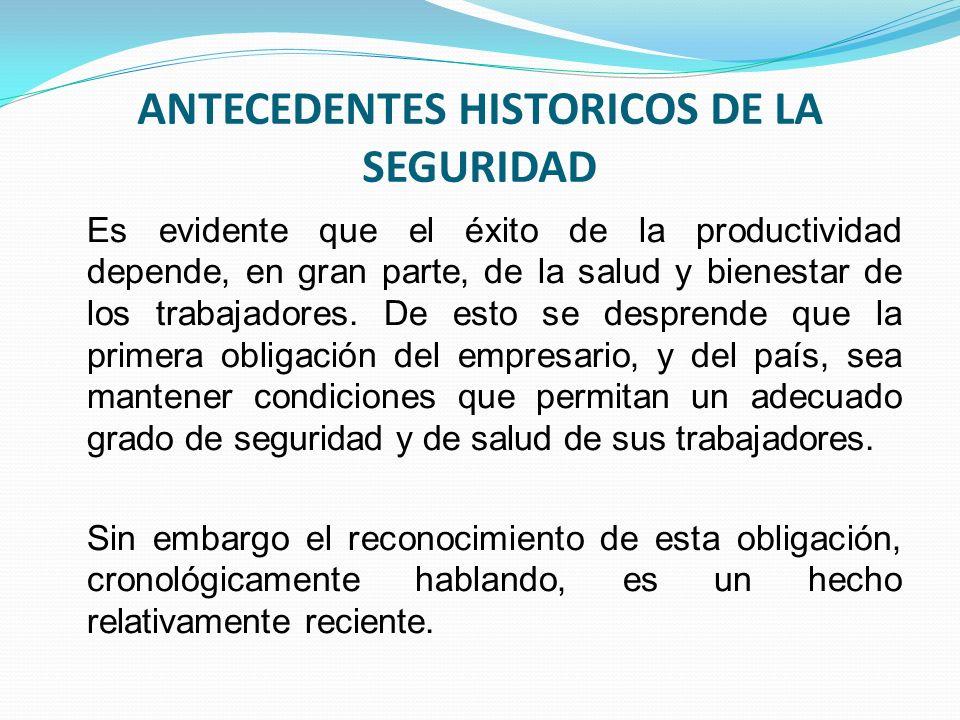 ANTECEDENTES HISTORICOS DE LA SEGURIDAD