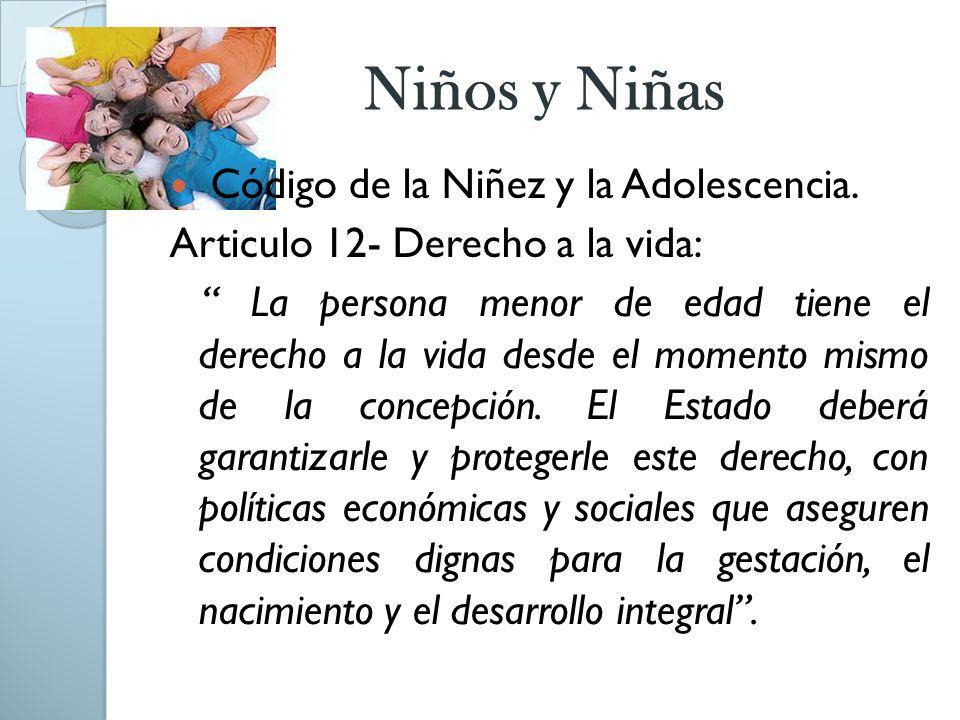 Niños y Niñas Código de la Niñez y la Adolescencia.