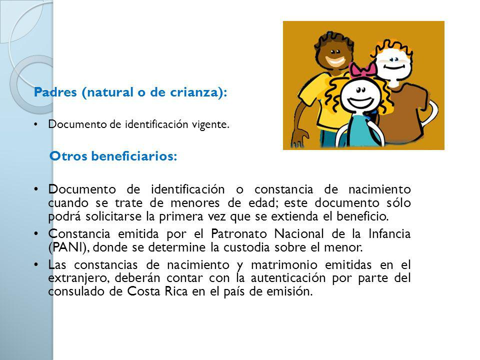 Padres (natural o de crianza):