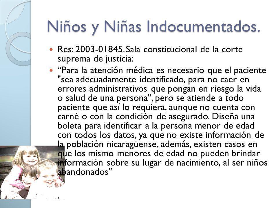 Niños y Niñas Indocumentados.