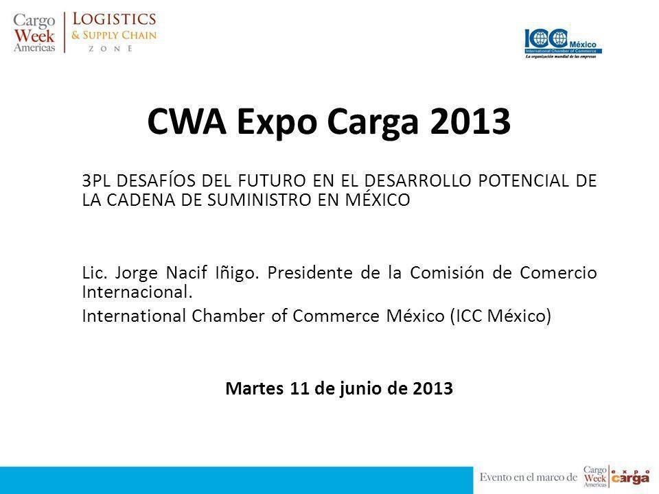 CWA Expo Carga 2013 3PL DESAFÍOS DEL FUTURO EN EL DESARROLLO POTENCIAL DE LA CADENA DE SUMINISTRO EN MÉXICO.