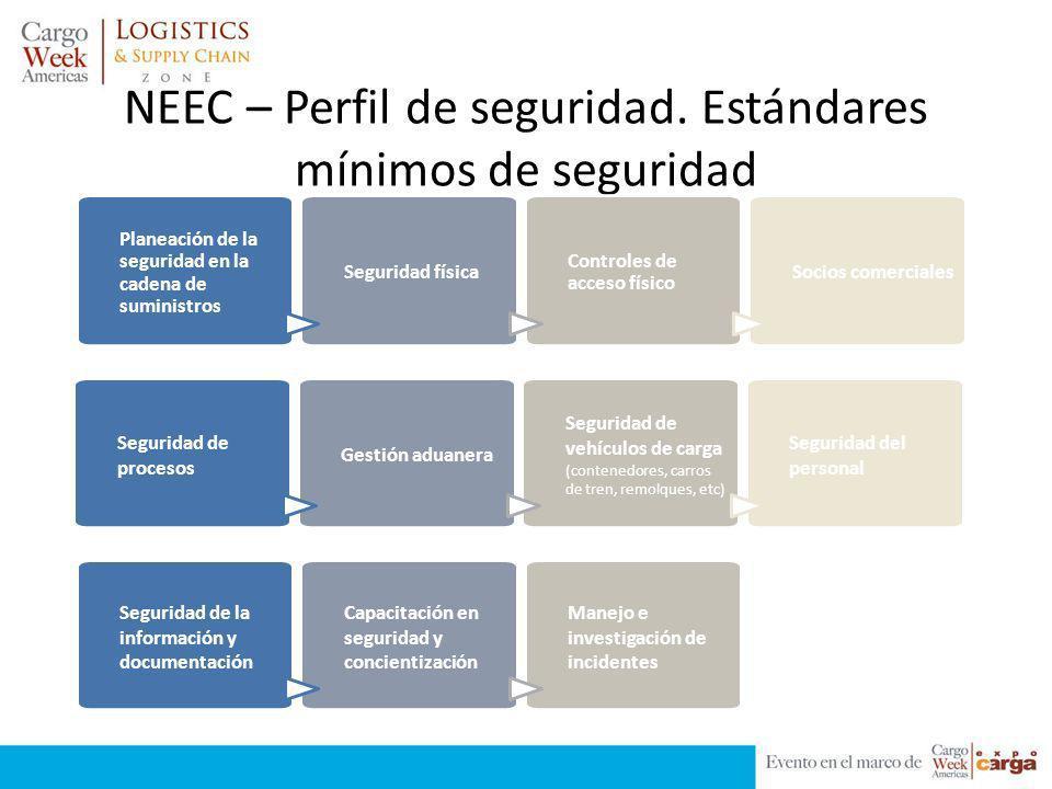 NEEC – Perfil de seguridad. Estándares mínimos de seguridad