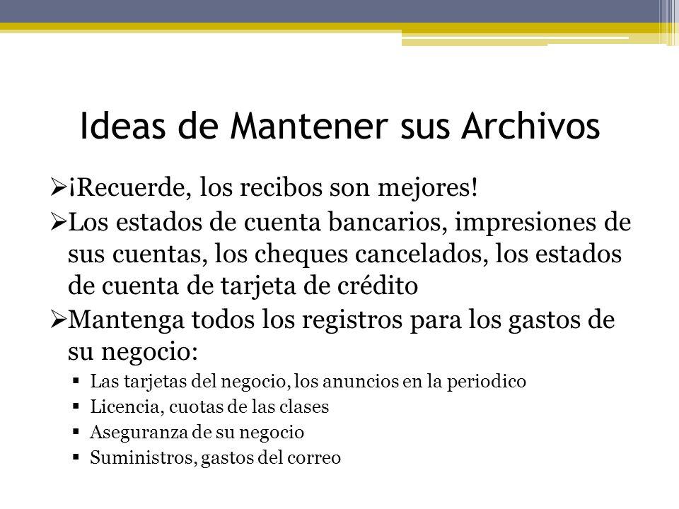 Ideas de Mantener sus Archivos