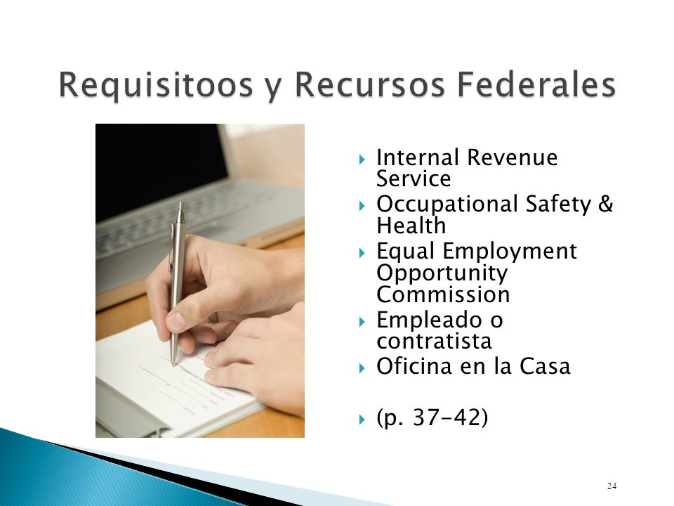 Requisitoos y Recursos Federales