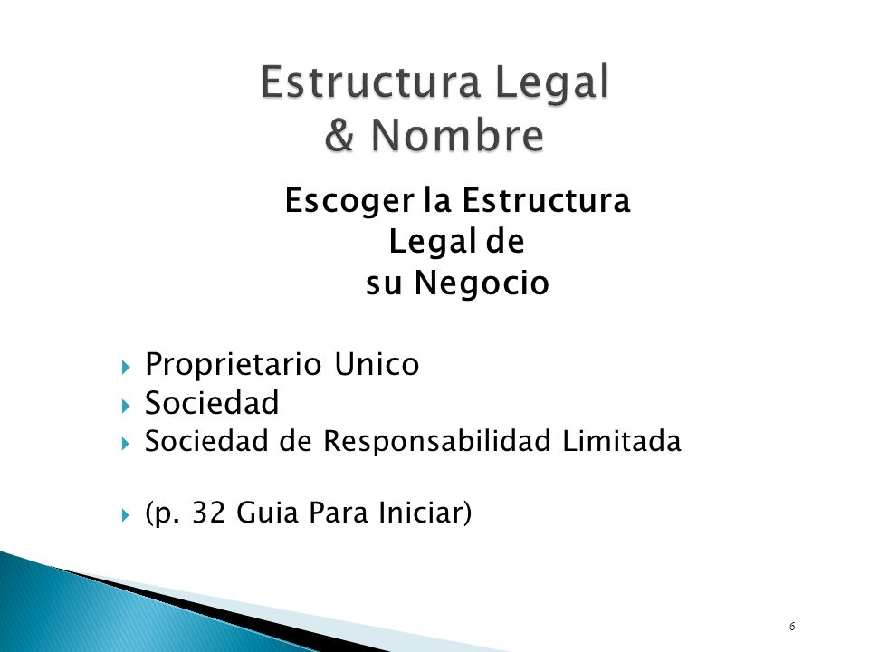 Estructura Legal & Nombre