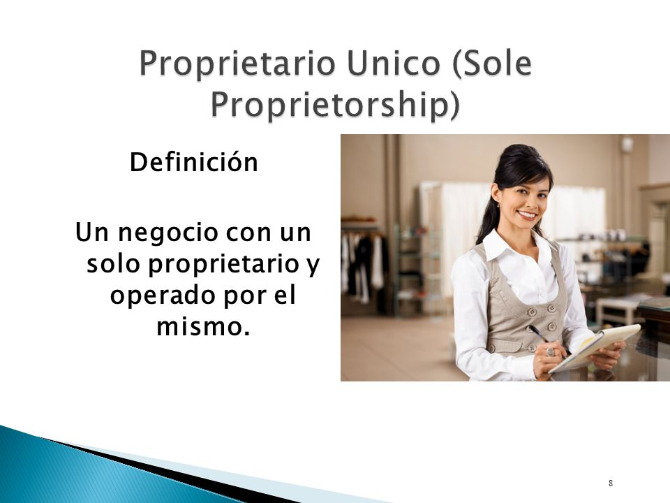Proprietario Unico (Sole Proprietorship)