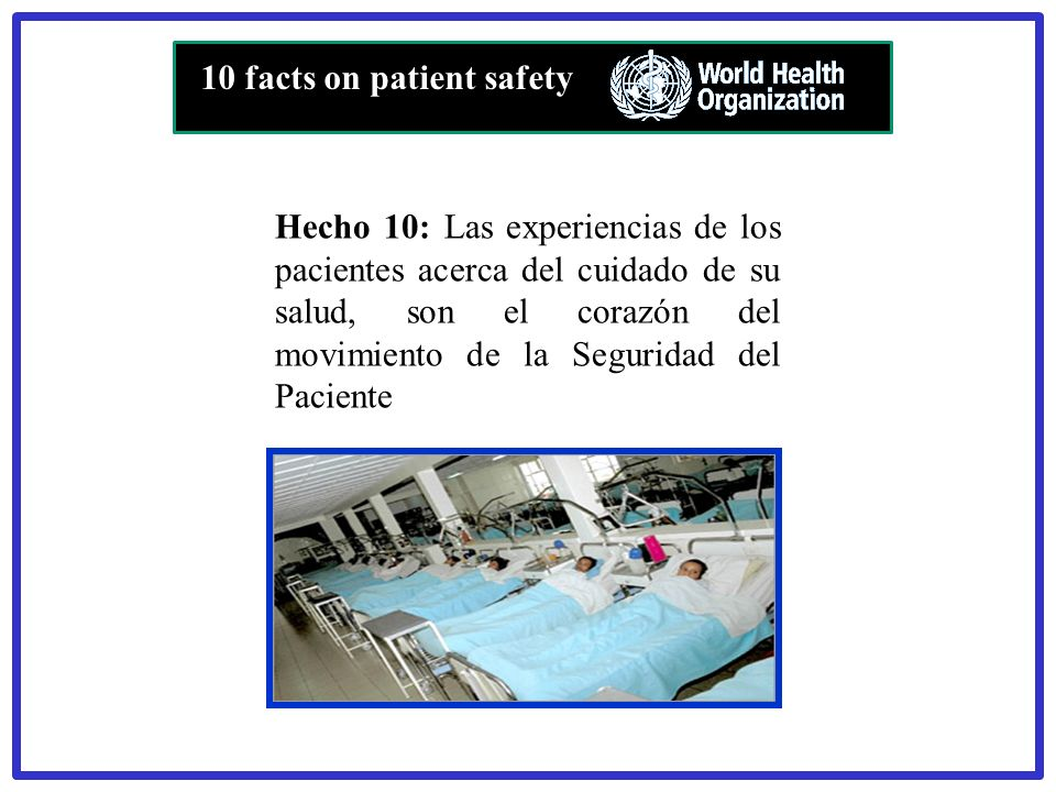 10 facts on patient safety