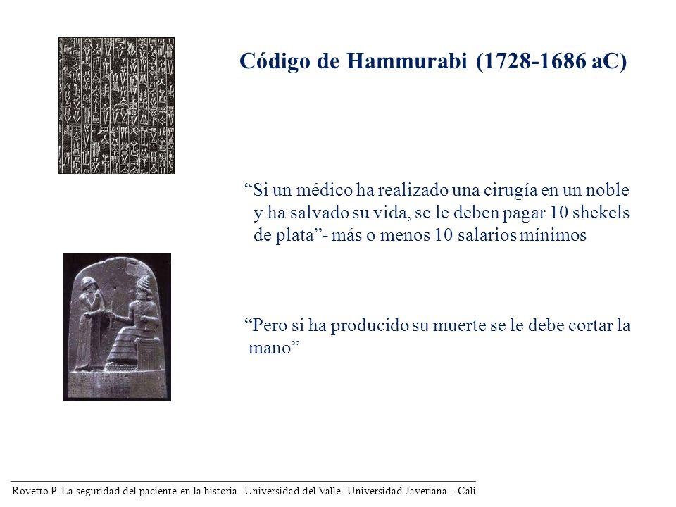 Código de Hammurabi (1728-1686 aC)