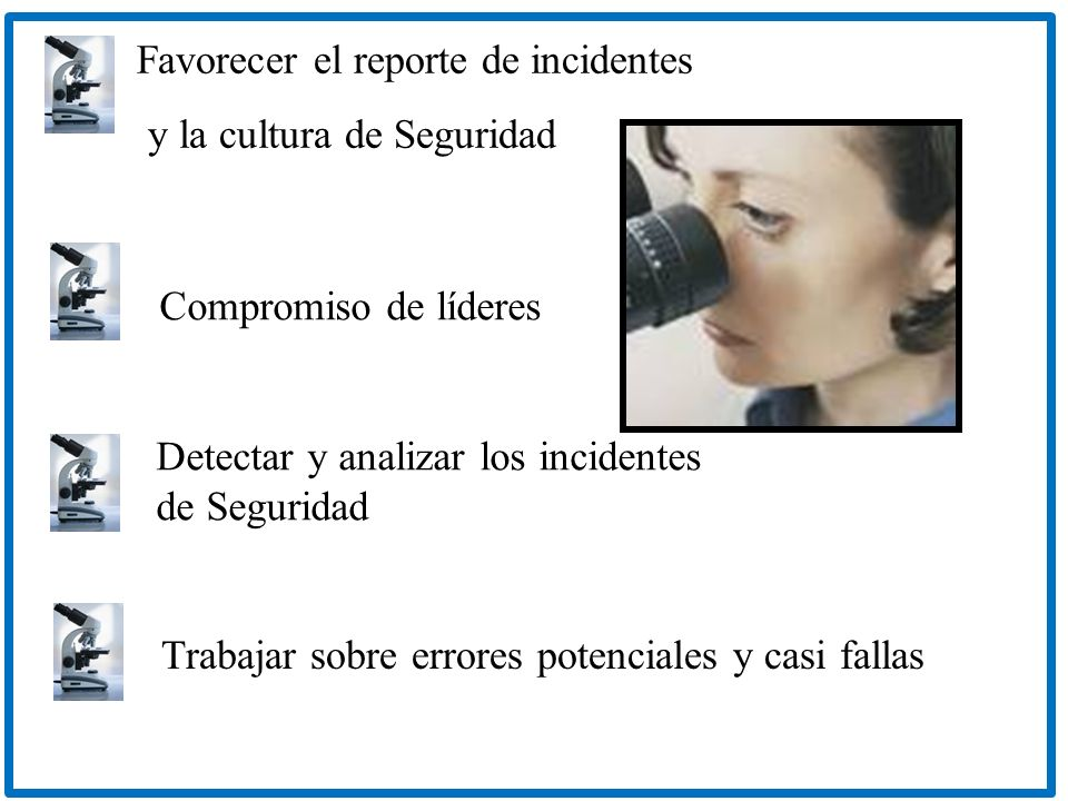 Favorecer el reporte de incidentes