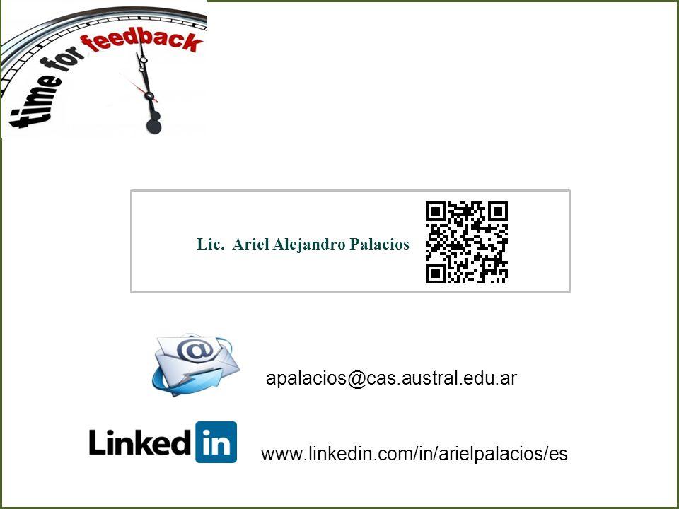 apalacios@cas.austral.edu.ar www.linkedin.com/in/arielpalacios/es