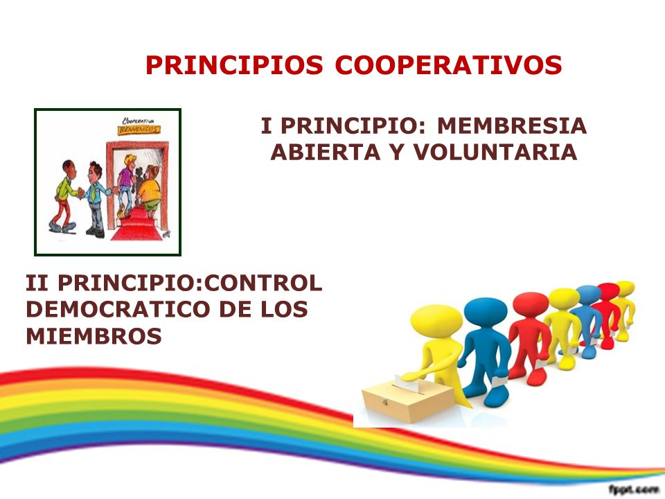 PRINCIPIOS COOPERATIVOS I PRINCIPIO: MEMBRESIA ABIERTA Y VOLUNTARIA