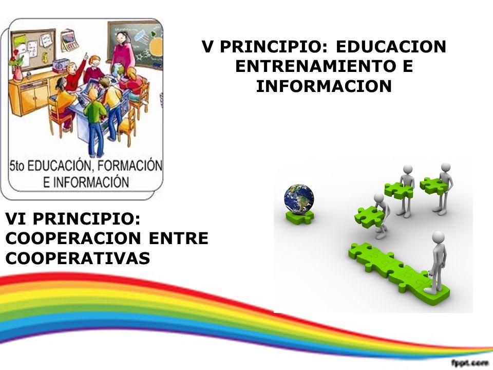 V PRINCIPIO: EDUCACION ENTRENAMIENTO E INFORMACION