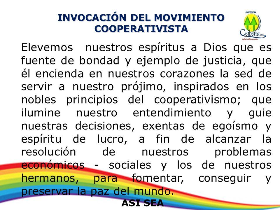 INVOCACIÓN DEL MOVIMIENTO COOPERATIVISTA