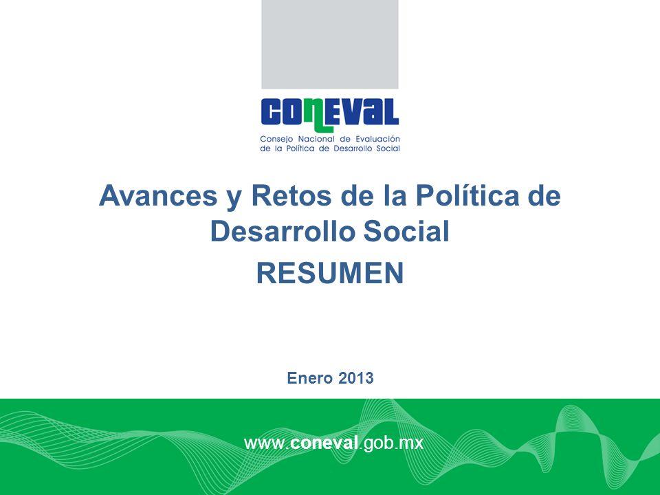 Avances y Retos de la Política de Desarrollo Social
