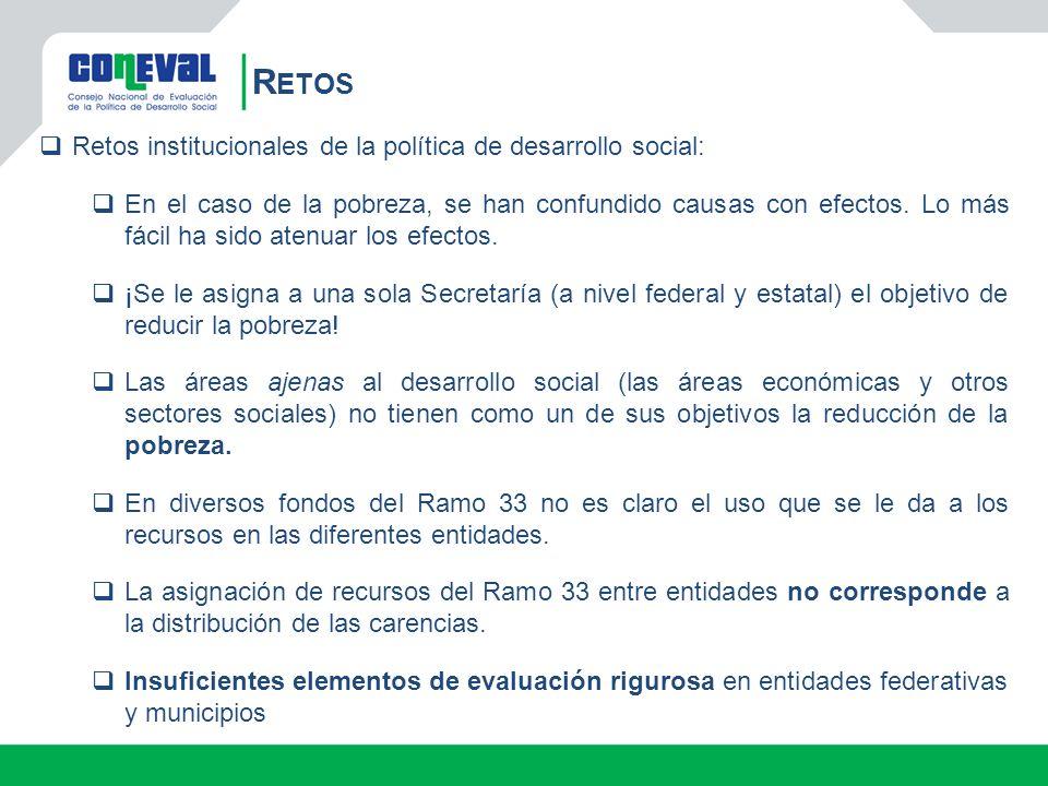 Retos Retos institucionales de la política de desarrollo social: