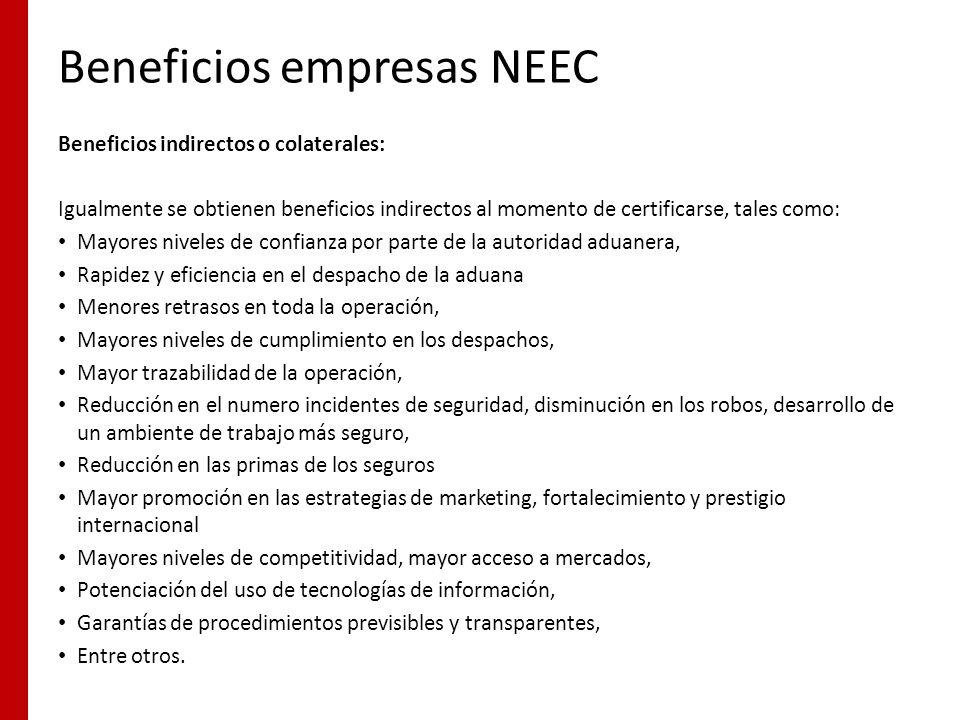 Beneficios empresas NEEC