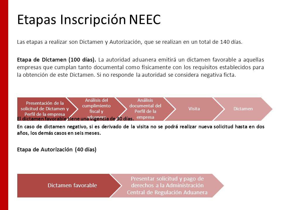 Etapas Inscripción NEEC