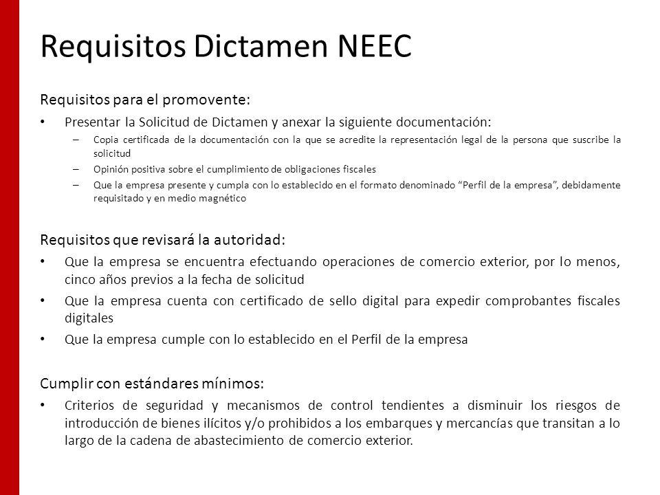 Requisitos Dictamen NEEC