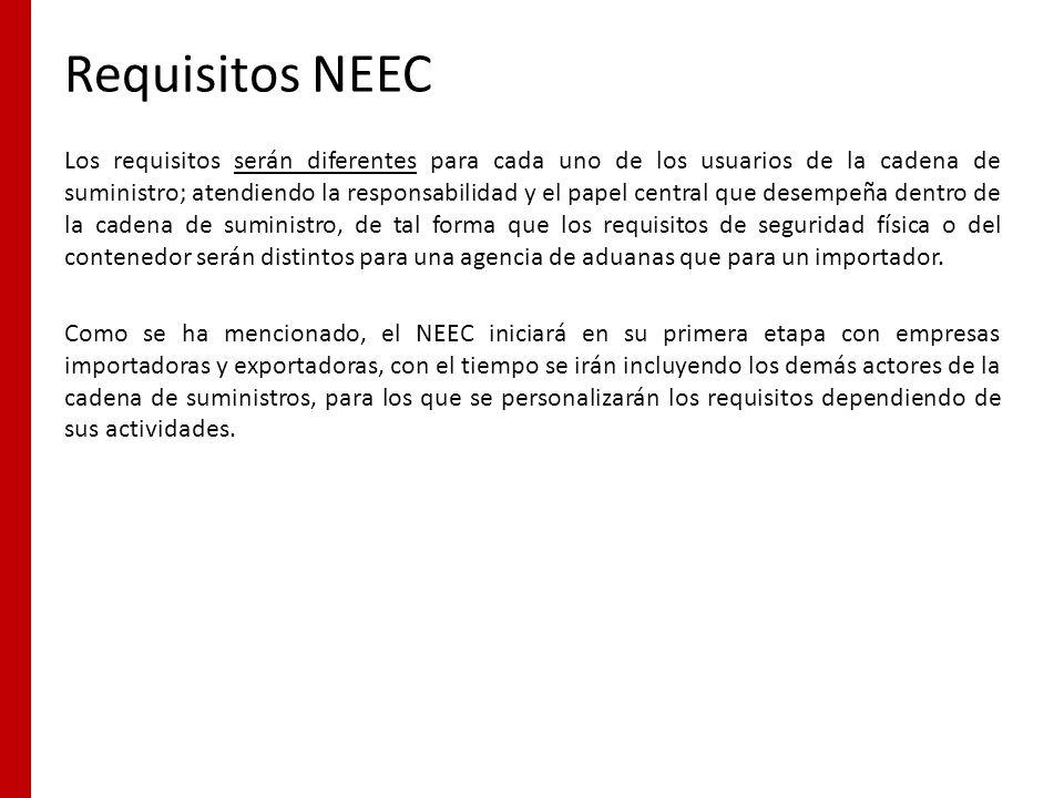 Requisitos NEEC