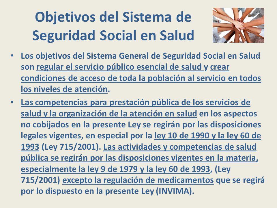 Objetivos del Sistema de Seguridad Social en Salud