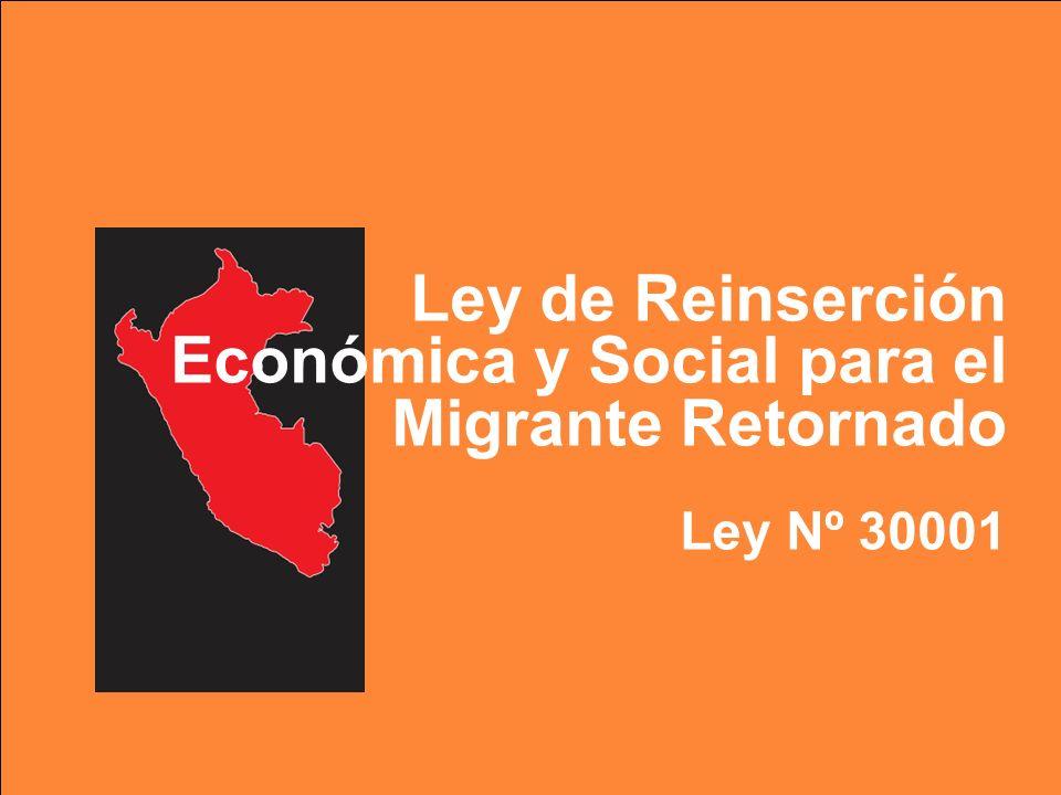 Ley de Reinserción Económica y Social para el Migrante Retornado