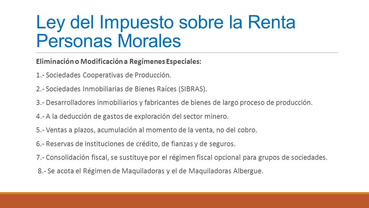 Ley del Impuesto sobre la Renta Personas Morales