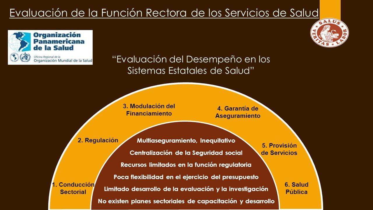 Evaluación de la Función Rectora de los Servicios de Salud