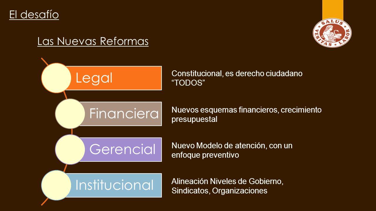 Legal Financiera Gerencial Institucional El desafío