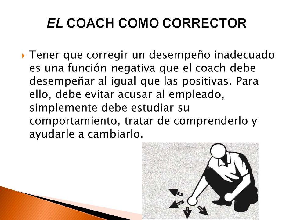EL COACH COMO CORRECTOR