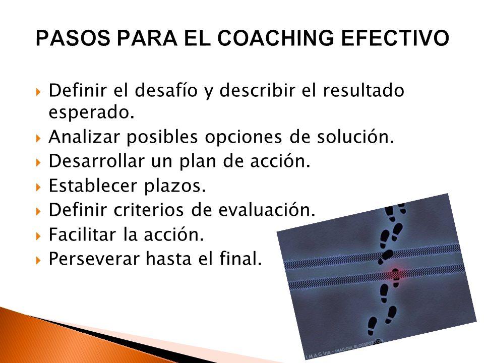PASOS PARA EL COACHING EFECTIVO