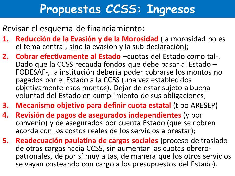 Propuestas CCSS: Ingresos