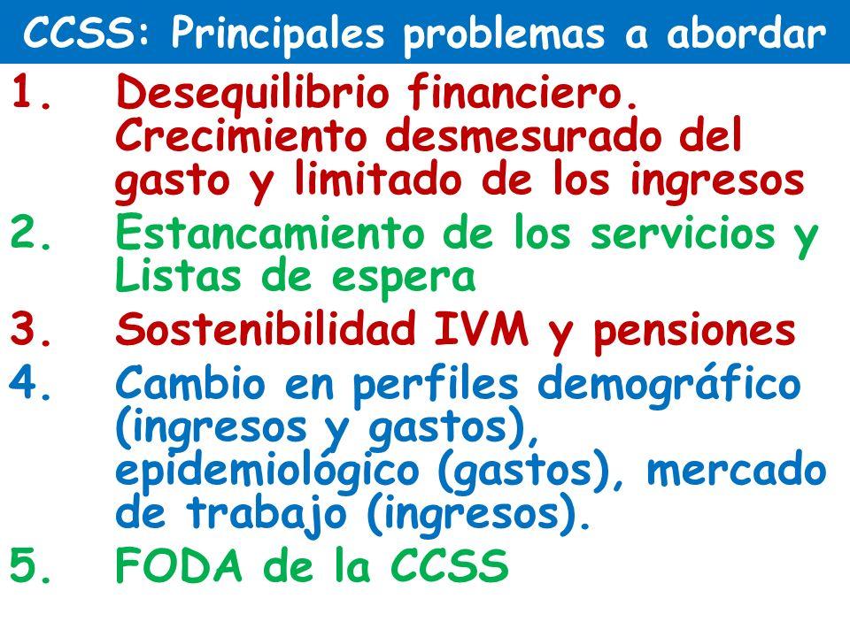 CCSS: Principales problemas a abordar