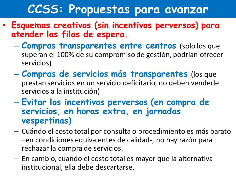 CCSS: Propuestas para avanzar