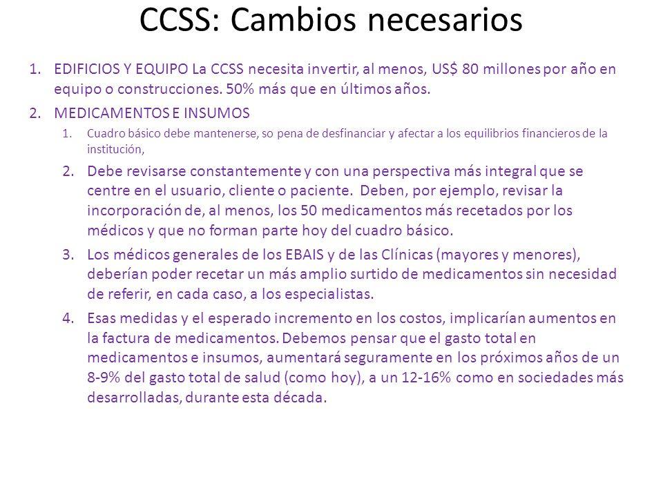 CCSS: Cambios necesarios