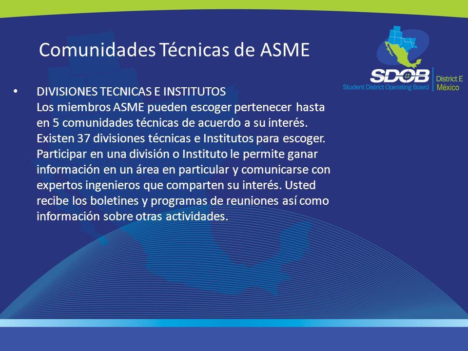 Comunidades Técnicas de ASME