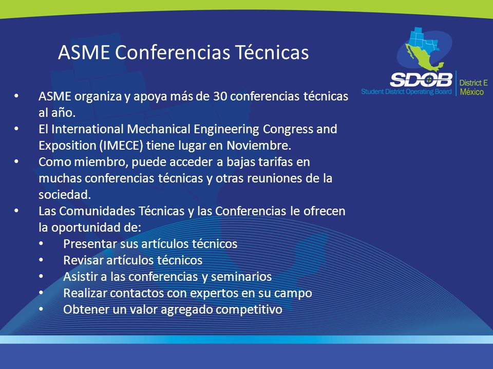 ASME Conferencias Técnicas