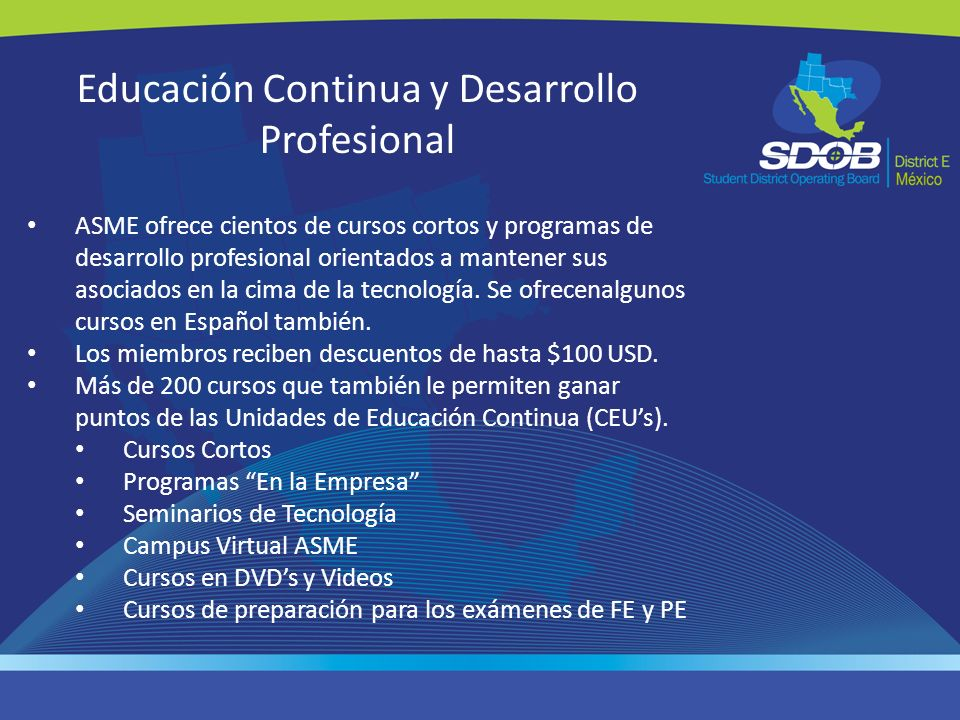 Educación Continua y Desarrollo Profesional