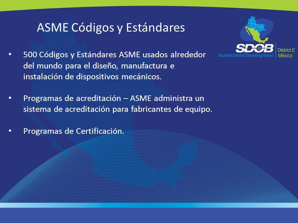 ASME Códigos y Estándares