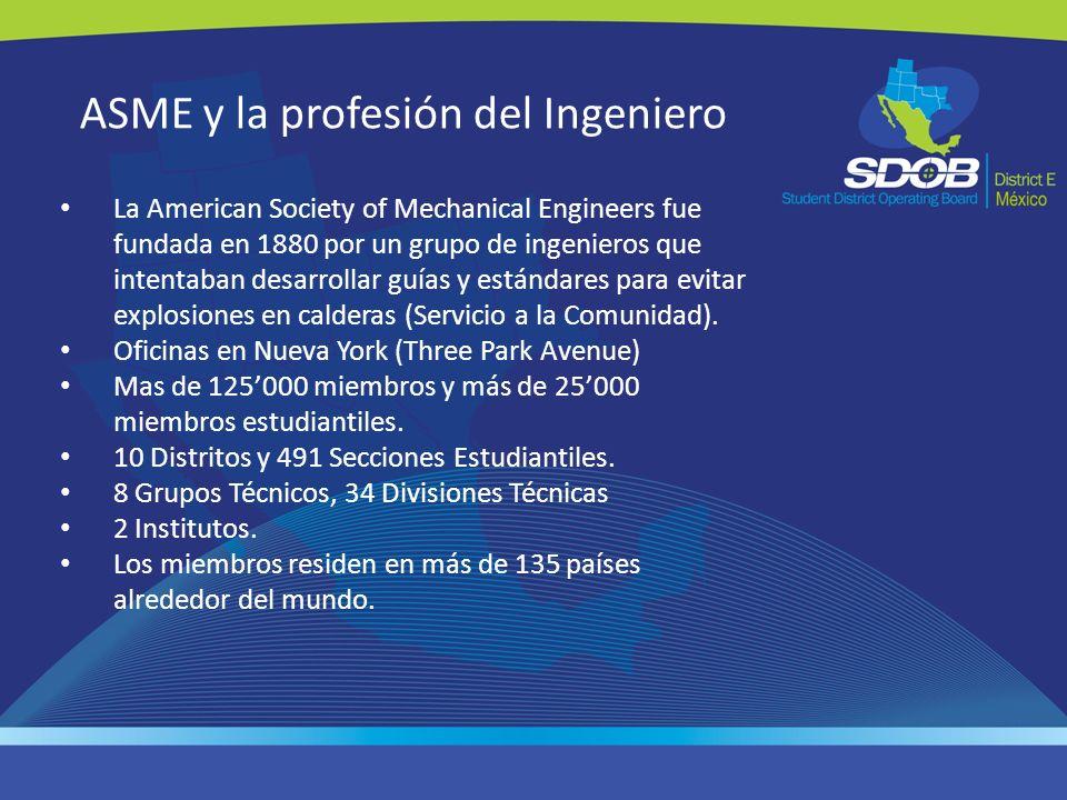 ASME y la profesión del Ingeniero