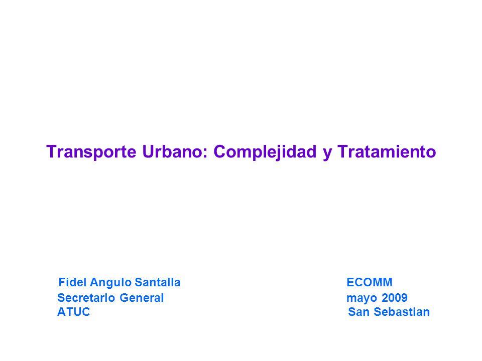 Transporte Urbano: Complejidad y Tratamiento