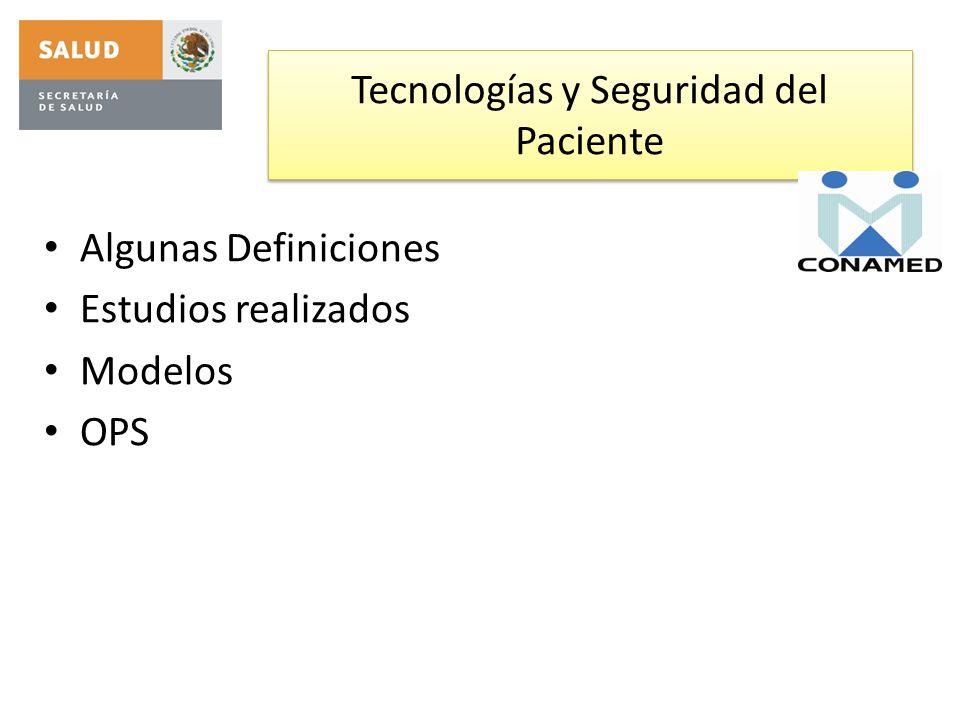 Tecnologías y Seguridad del Paciente