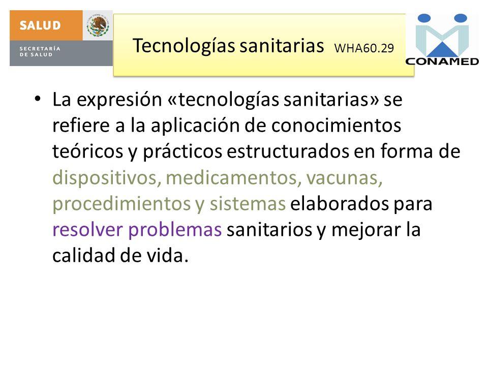 Tecnologías sanitarias WHA60.29