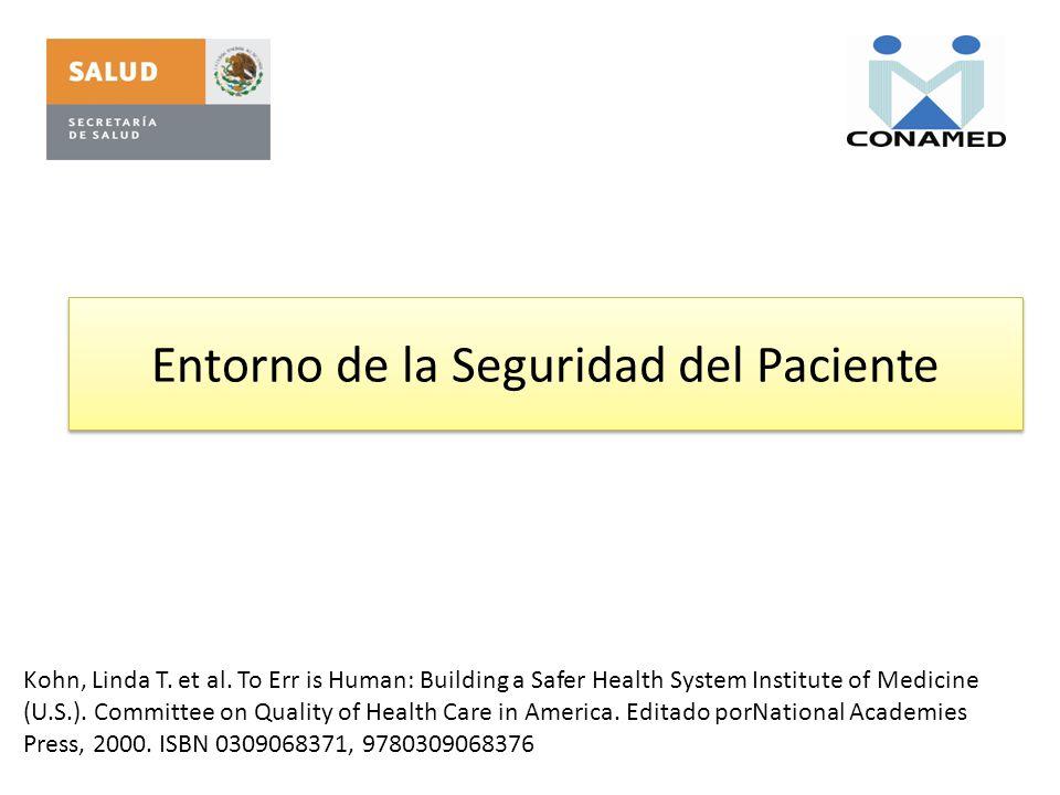 Entorno de la Seguridad del Paciente