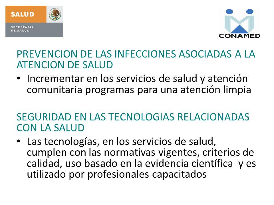 PREVENCION DE LAS INFECCIONES ASOCIADAS A LA ATENCION DE SALUD