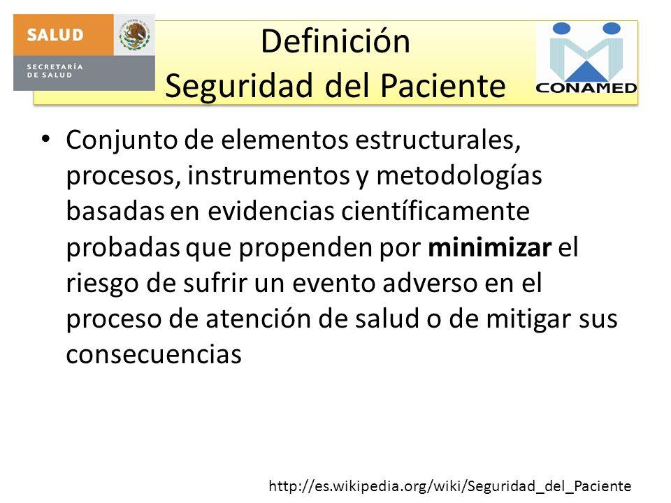 Definición Seguridad del Paciente