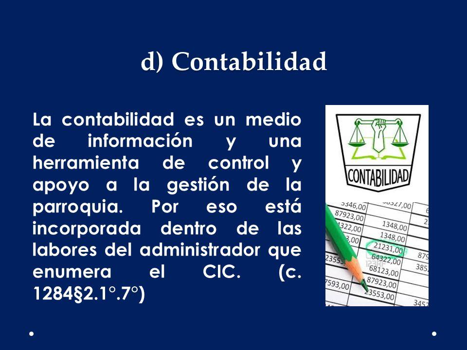 d) Contabilidad