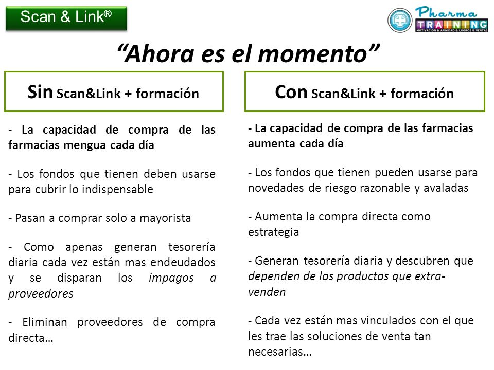 Con Scan&Link + formación